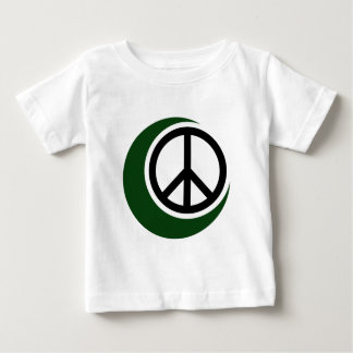 Islamic Muslim Symbol with Peace Sign Baby T-Shirt