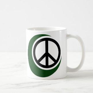 Islamic Muslim Symbol with Peace Sign Coffee Mug