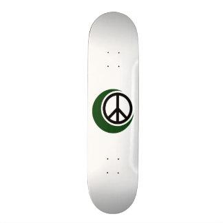 Islamic Muslim Symbol with Peace Sign Skate Deck
