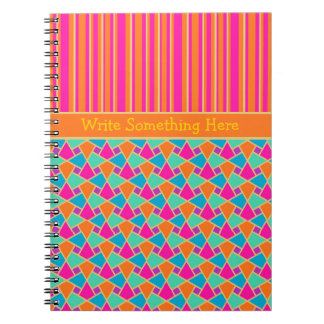 Islamic Pattern and Stripes Spiral Notebook