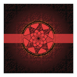 Islamic red  damask  bismillah wedding engagement card