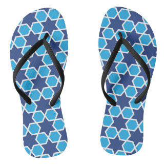 islamic religious geometric decoration pattern abs flip flops