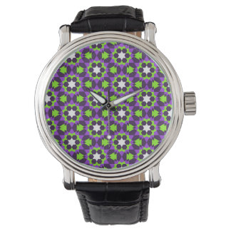 islamic religious geometric decoration pattern bac wristwatch
