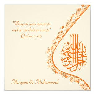 islamic wedding invitation templates