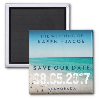 Islamorada Destination Wedding Save the Date Square Magnet