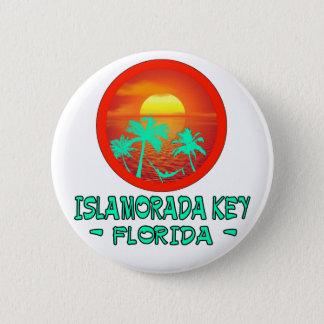 ISLAMORADA KEY FL TROPICAL DESTINATION 2 INCH ROUND BUTTON