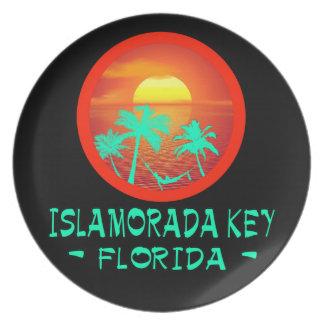 ISLAMORADA KEY FL TROPICAL DESTINATION PLATE