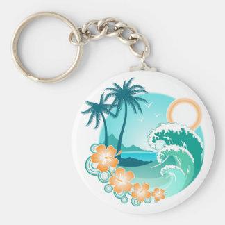 Island 1a basic round button keychain