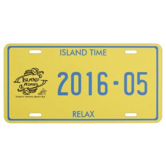 Island Adam Caribbean License Plate