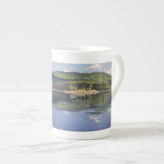 Island And Cloud Shadow - bone china mug