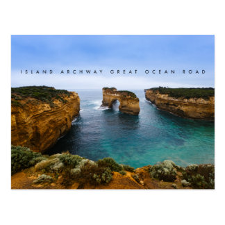 Island Archway on the Great Ocean Road, Australia Postcard