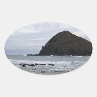 Island at Sea Oval Sticker