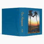 Island Beach Sunset Photo  Album Binder