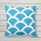 Island Blue Outdoor Pillows - Circles Pattern