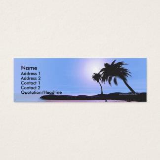 Island Blue - Skinny Mini Business Card