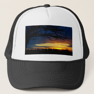 Island Blue Sunset Trucker Hat