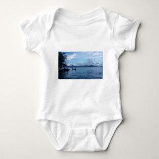 Island Boat Dock Baby Bodysuit