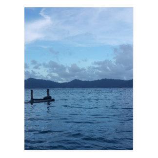 Island Boat Dock Postcard