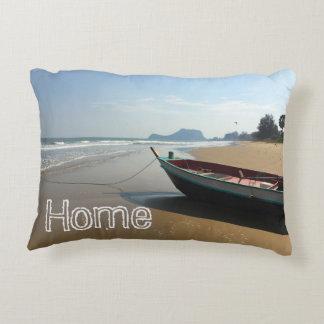 Island boat throw pillow