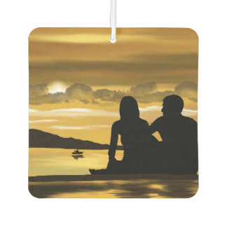 Island Breeze Couple on Tropical Island Car Air Freshener