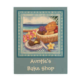 Island Cafe - Baked Goods Wood Print