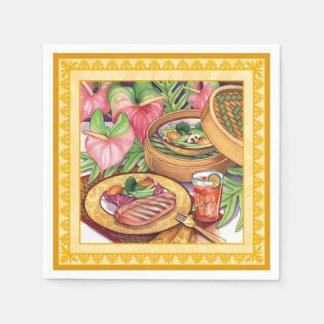 Island Cafe - Bamboo Steamer Paper Napkin