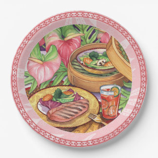 Island Cafe - Bamboo Steamer Paper Plate