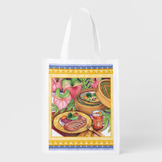 Island Cafe - Bamboo Steamer Reusable Grocery Bag