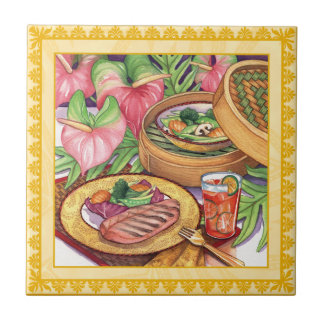 Island Cafe - Bamboo Steamer Tile