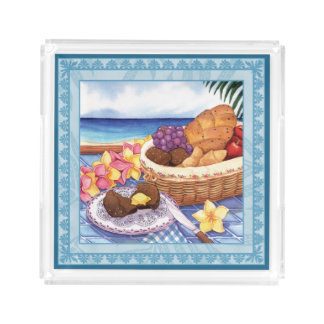 Island Cafe - Breakfast Lanai Acrylic Tray