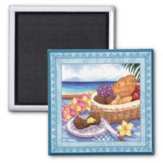 Island Cafe - Breakfast Lanai Square Magnet
