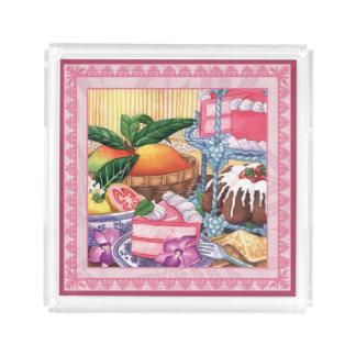 Island Cafe - Guava Chiffon Dessert Acrylic Tray