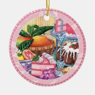 Island Cafe - Guava Chiffon Dessert Ceramic Ornament