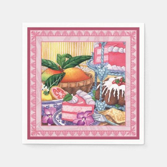 Island Cafe - Guava Chiffon Dessert Disposable Napkin