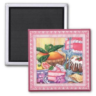 Island Cafe - Guava Chiffon Dessert Magnet