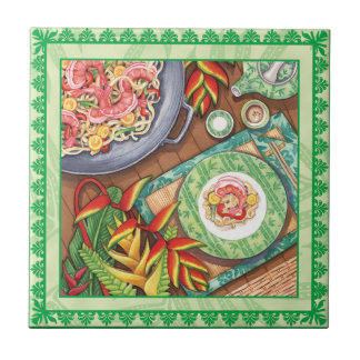 Island Cafe - Heliconia Wok Ceramic Tiles