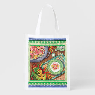 Island Cafe - Heliconia Wok Reusable Grocery Bag