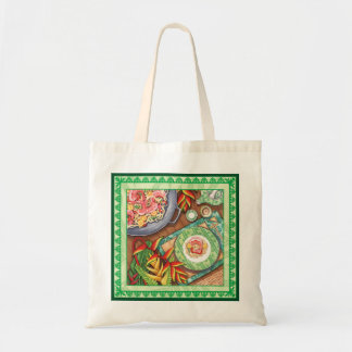 Island Cafe - Heliconia Wok Tote Bag