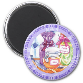 Island Cafe - Lilikoi and Pickled Mangoes 2 Inch Round Magnet