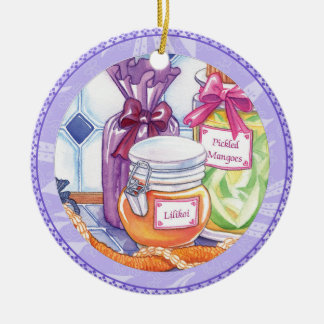 Island Cafe - Lilikoi and Pickled Mangoes Ceramic Ornament