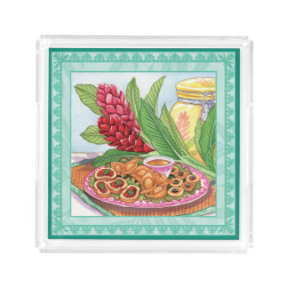 Island Cafe - Party Pupus Acrylic Tray
