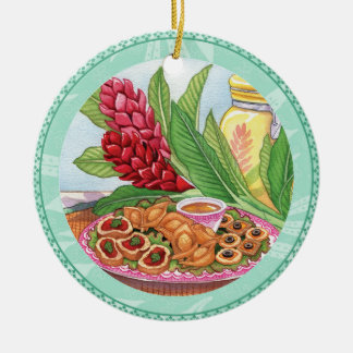 Island Cafe - Party Pupus Ceramic Ornament