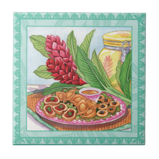 Island Cafe - Party Pupus Ceramic Tiles