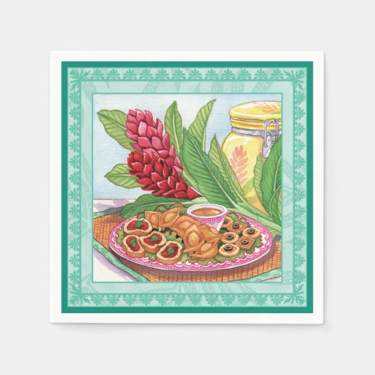 Island Cafe - Party Pupus Disposable Napkins