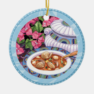 Island Cafe - Soup is Served Ceramic Ornament