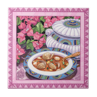 Island Cafe - Soup is Served Ceramic Tile