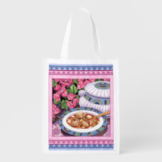 Island Cafe - Soup is Served Reusable Grocery Bag