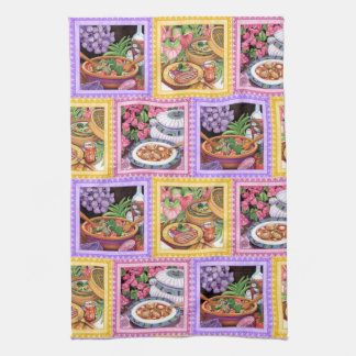 Island Cafe - Soup, Salad and Bamboo Steamer Kitchen Towel