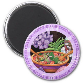 Island Cafe - Tropical Salad 2 Inch Round Magnet