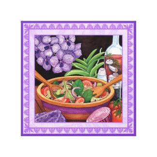 Island Cafe - Tropical Salad Canvas Print
